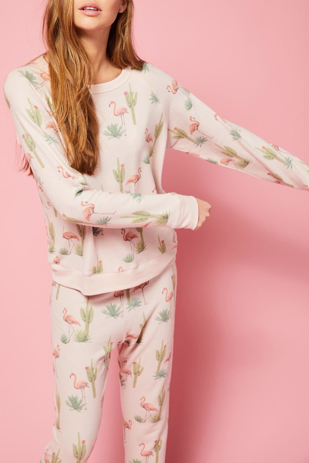 All Things Fabulous Flamingo Cozy Jumper - Side Cropped Image