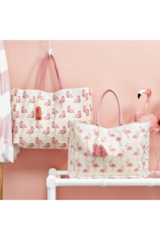 The Birds Nest FLAMINGO PATTERN TOTE BAG - Product Mini Image