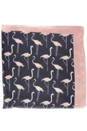 Olive and Pique Flamingo Print Neckerchief - Front full body