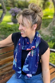 CJ Rose Flamingo print Spring Scarf - Product Mini Image