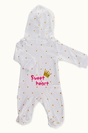 T & Tim Flamingo Queen Hooded Nap Romper - Front full body