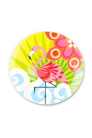 French Bull Flamingo Salad Plate - Front cropped