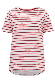 Sugarhill Boutique Flamingo Stripe Top - Product Mini Image