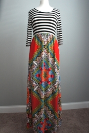 Flamingo Stripes-Boho Maxi-Dress - Product Mini Image
