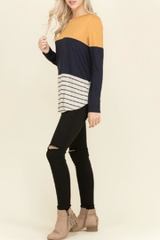 Flamingo Tabby Mustard Top - Side cropped