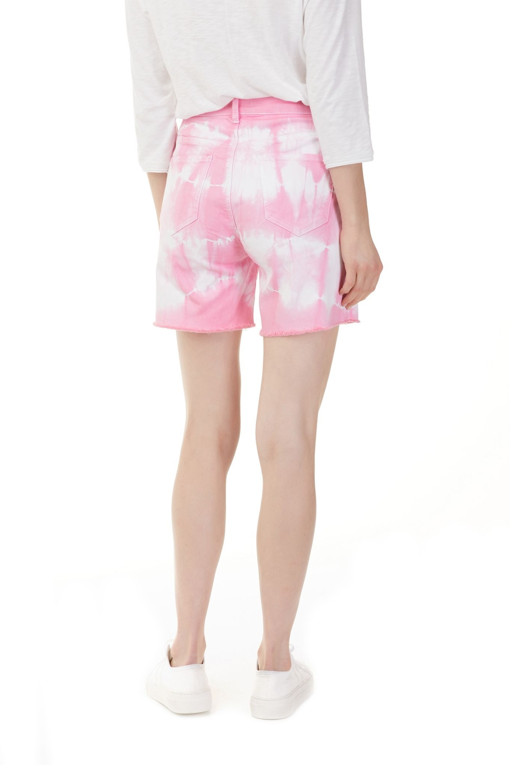 Charlie B. Flamingo Tie Dye Jean Shorts - Front Full Image