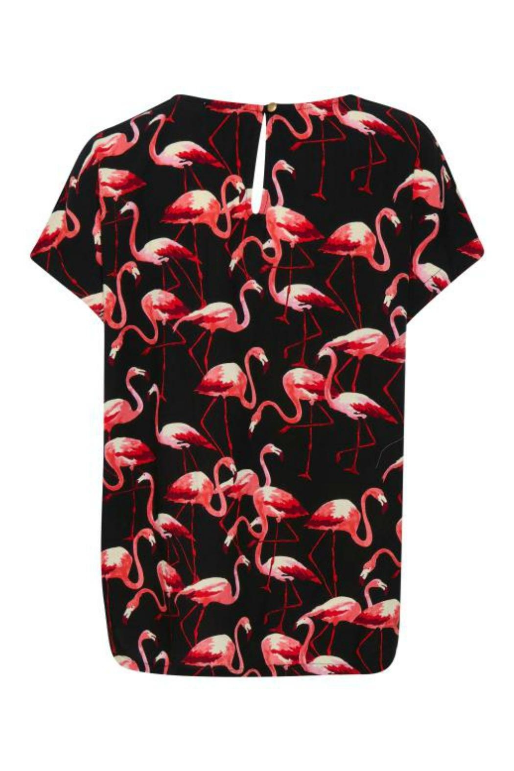 Soaked in Luxury Flamingo Top - Front Full Image