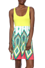Flamingo Urban Print Sleeveless Dress - Product Mini Image