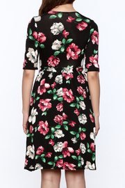 Flamingo Urban Black Floral Wrap Dress - Back cropped
