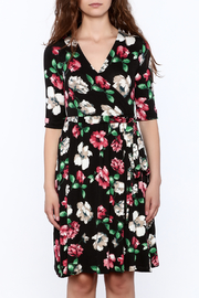 Flamingo Urban Black Floral Wrap Dress - Side cropped
