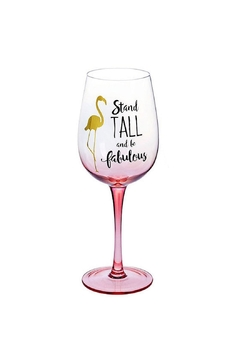 Ganz Flamingo Wine Glass - Alternate List Image