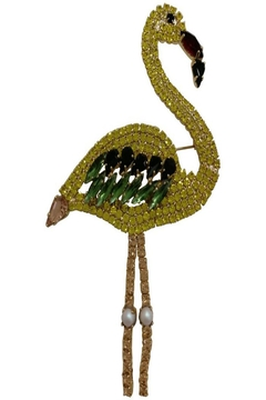 Shoptiques Product: Flamingo Yellow Brooch