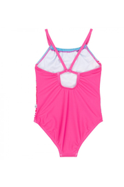 Deux Par Deux Flamingos Printed One-Piece Swimsuit - Front full body