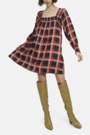 Compania Fantastica Flannel Babydoll Dress - Product Mini Image
