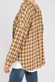 POL Flannel Button Down - Front full body