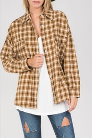POL Flannel Button Down - Front cropped