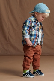 Tea Collection Flannel Plaid Baby Shirt - Front cropped