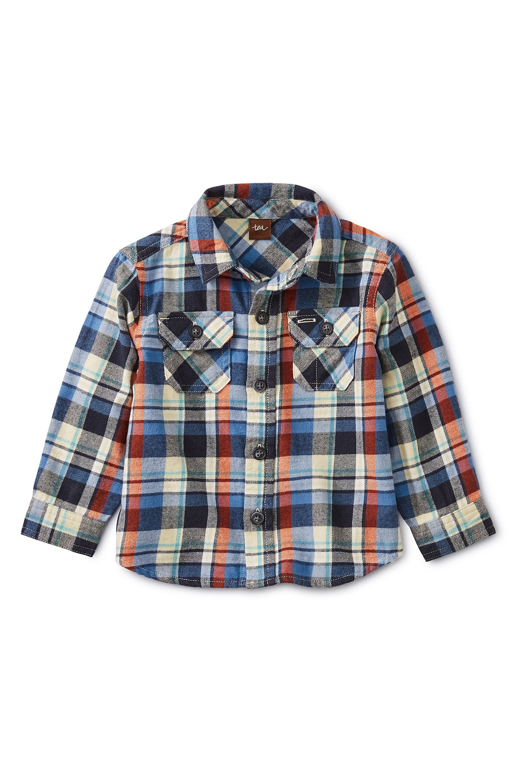 Tea Collection Flannel Plaid Baby Shirt - Front Full Image