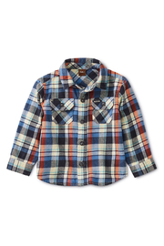 Tea Collection Flannel Plaid Baby Shirt - Front full body