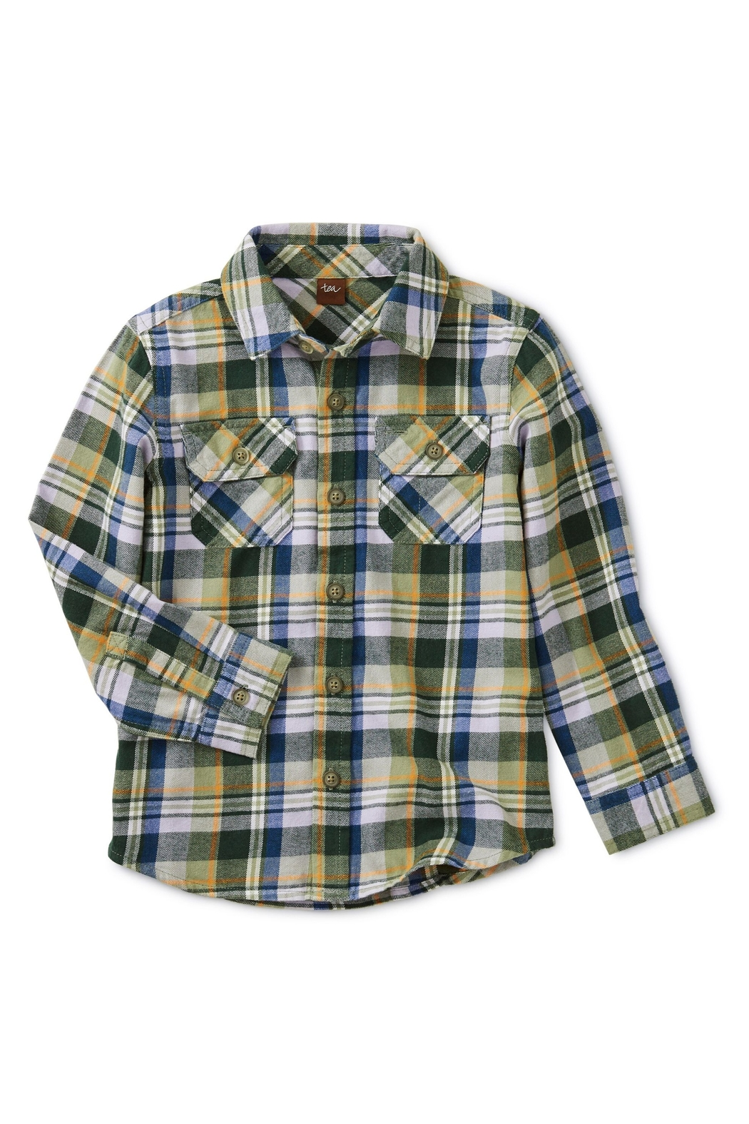 Tea Collection Flannel Plaid Shirt - Main Image