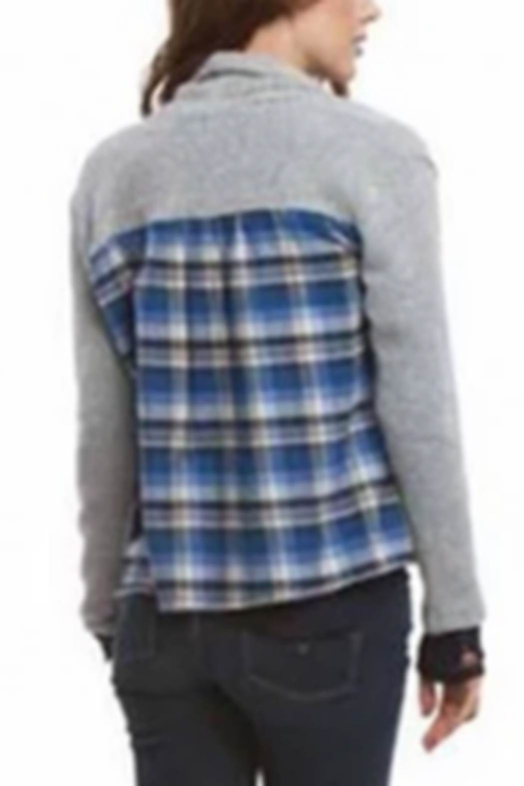 AnM Flannel Sweater Cardigan - Main Image