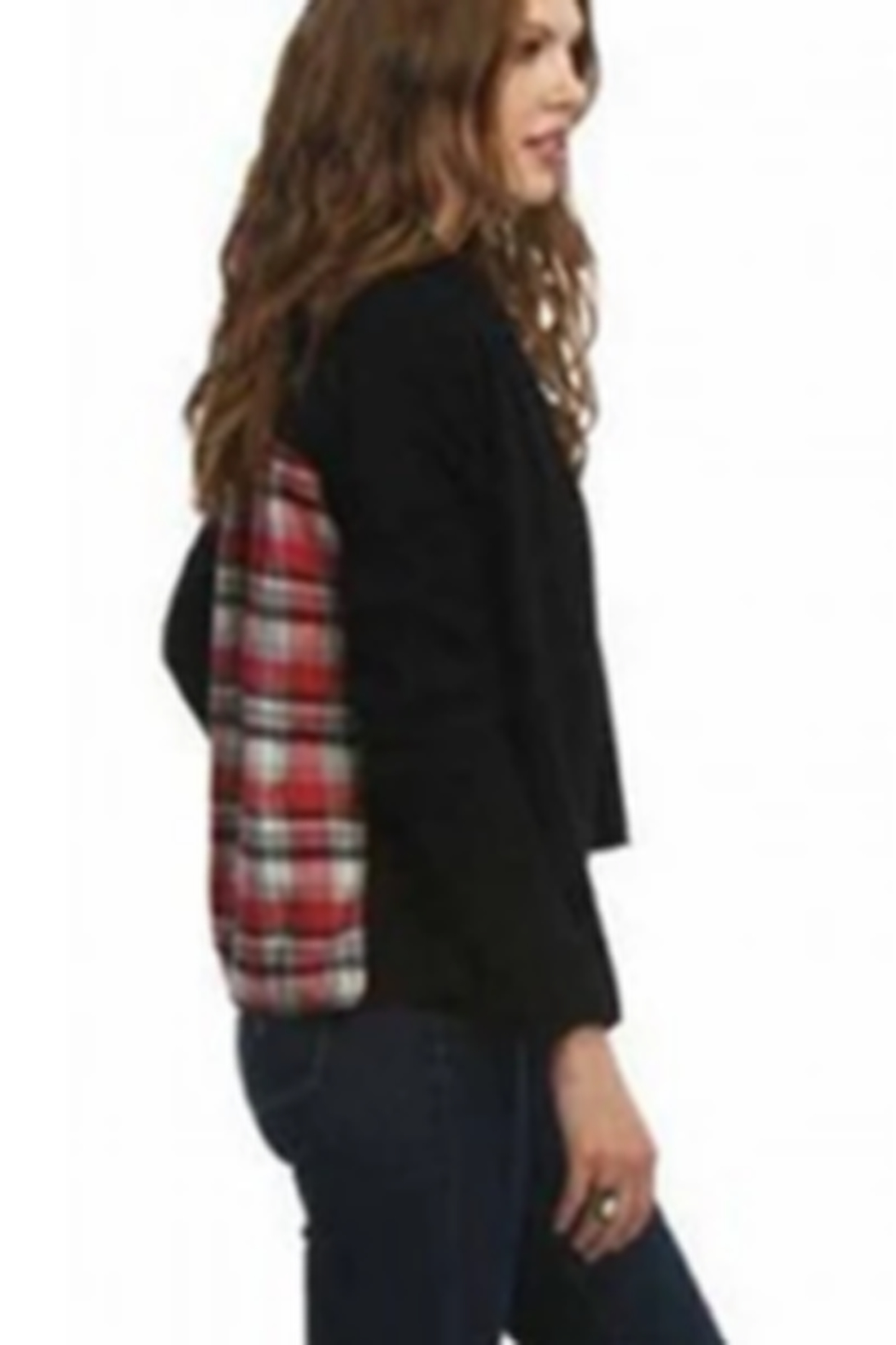 AnM Flannel Sweater Cardigan - Front Full Image