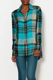 cino Flannel with Floral Back Detail - Product Mini Image