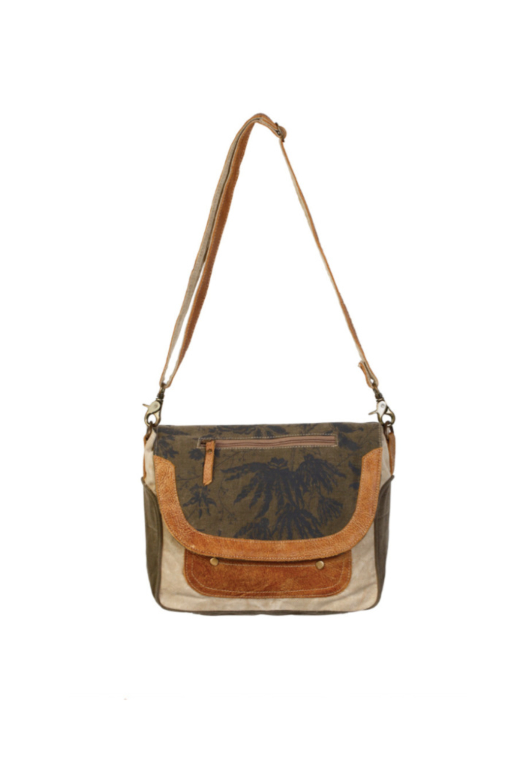 Myra Bags Flap Over Messenger Bag - Front Cropped Image