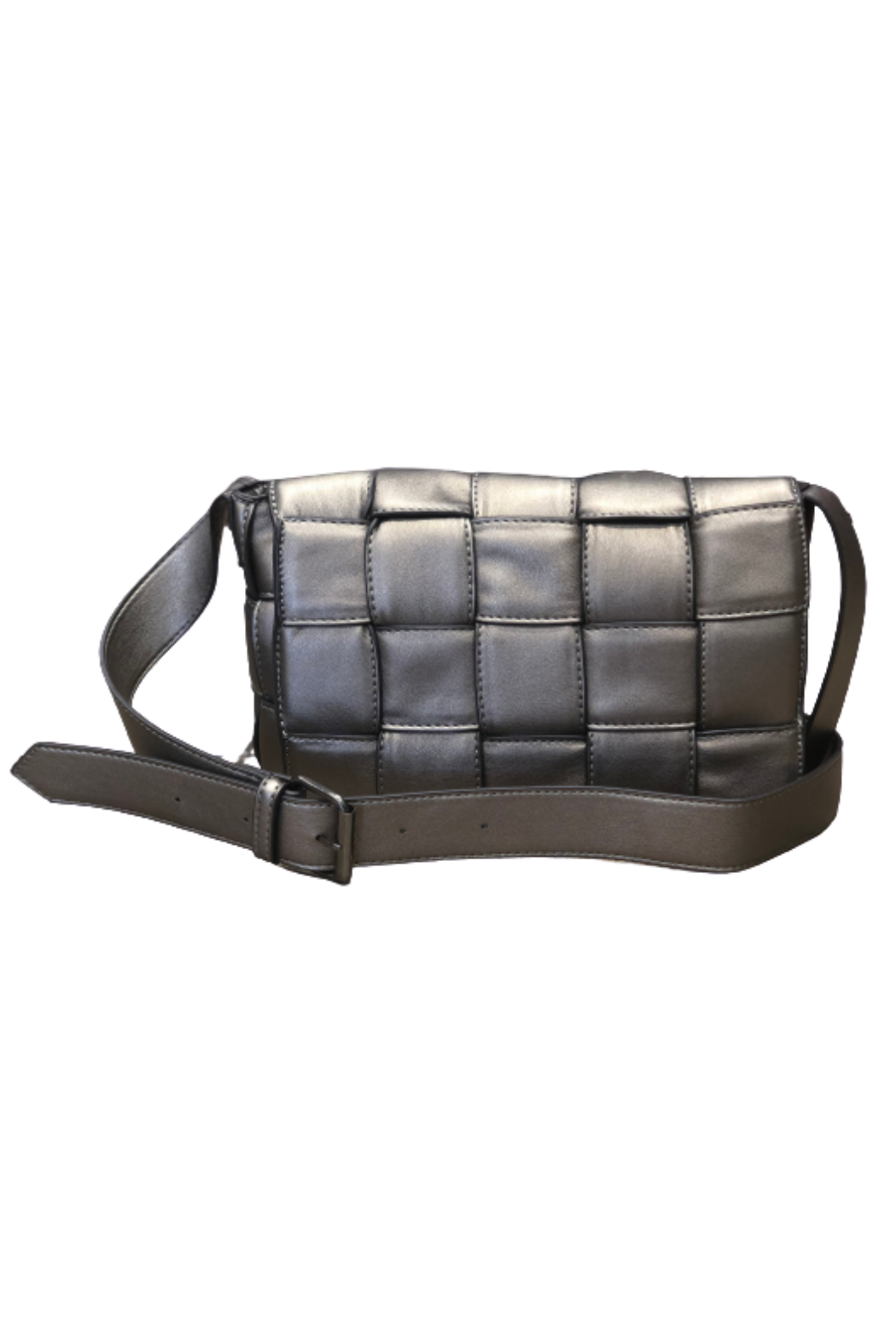 Sondra Roberts Flap Over Woven Crossbody - Front Cropped Image