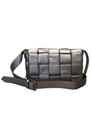 Sondra Roberts Flap Over Woven Crossbody - Front cropped