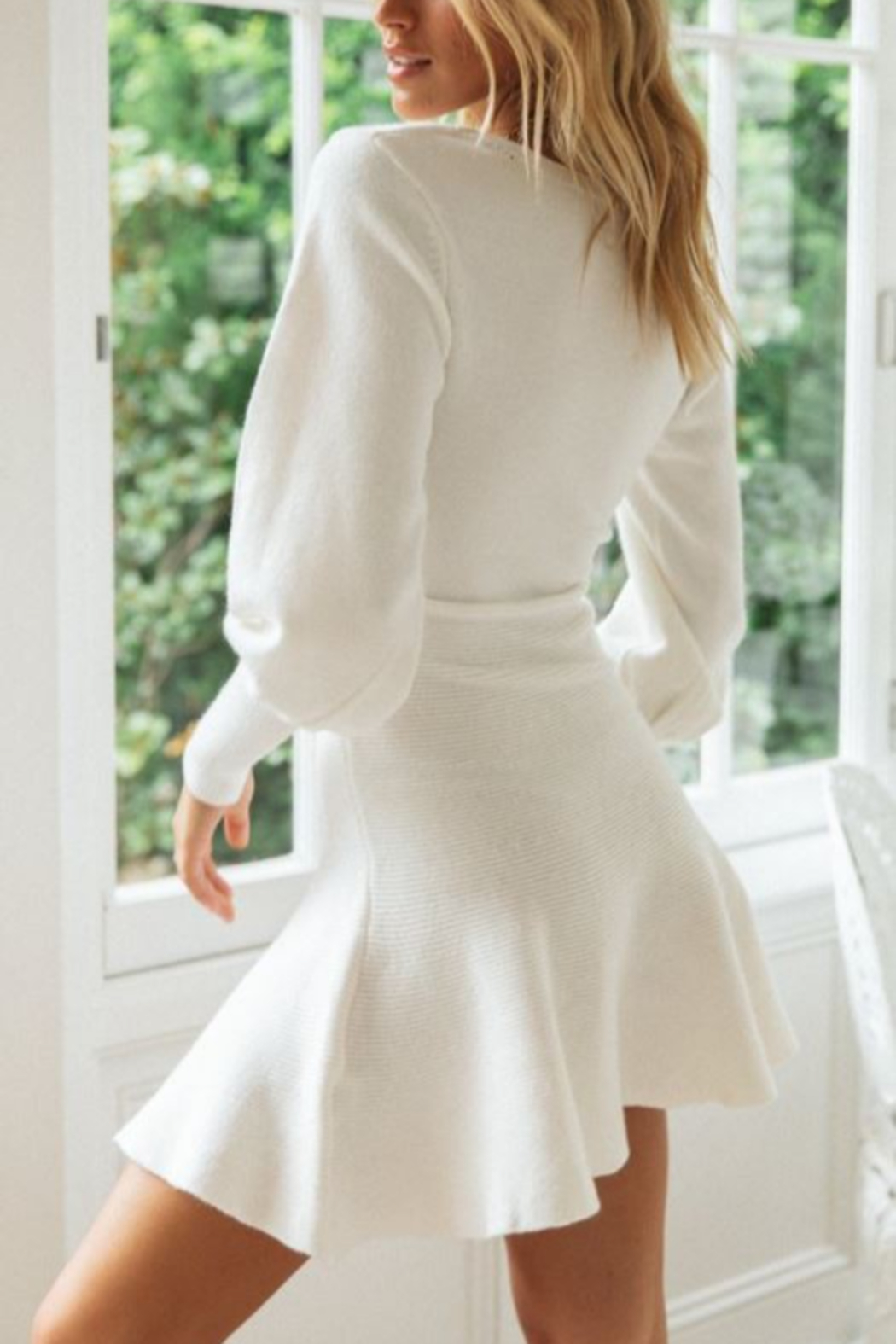 ONE AND ONLY COLLECTIVE Flare Bottom Sweater Dress - Front Full Image