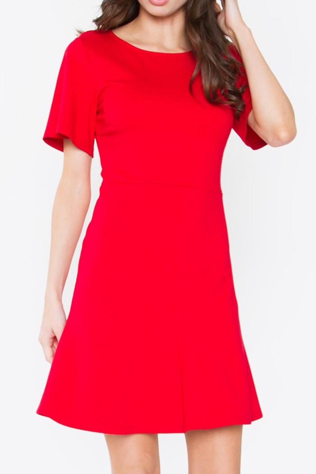 Sugar Lips Flare Dress - Front Cropped Image