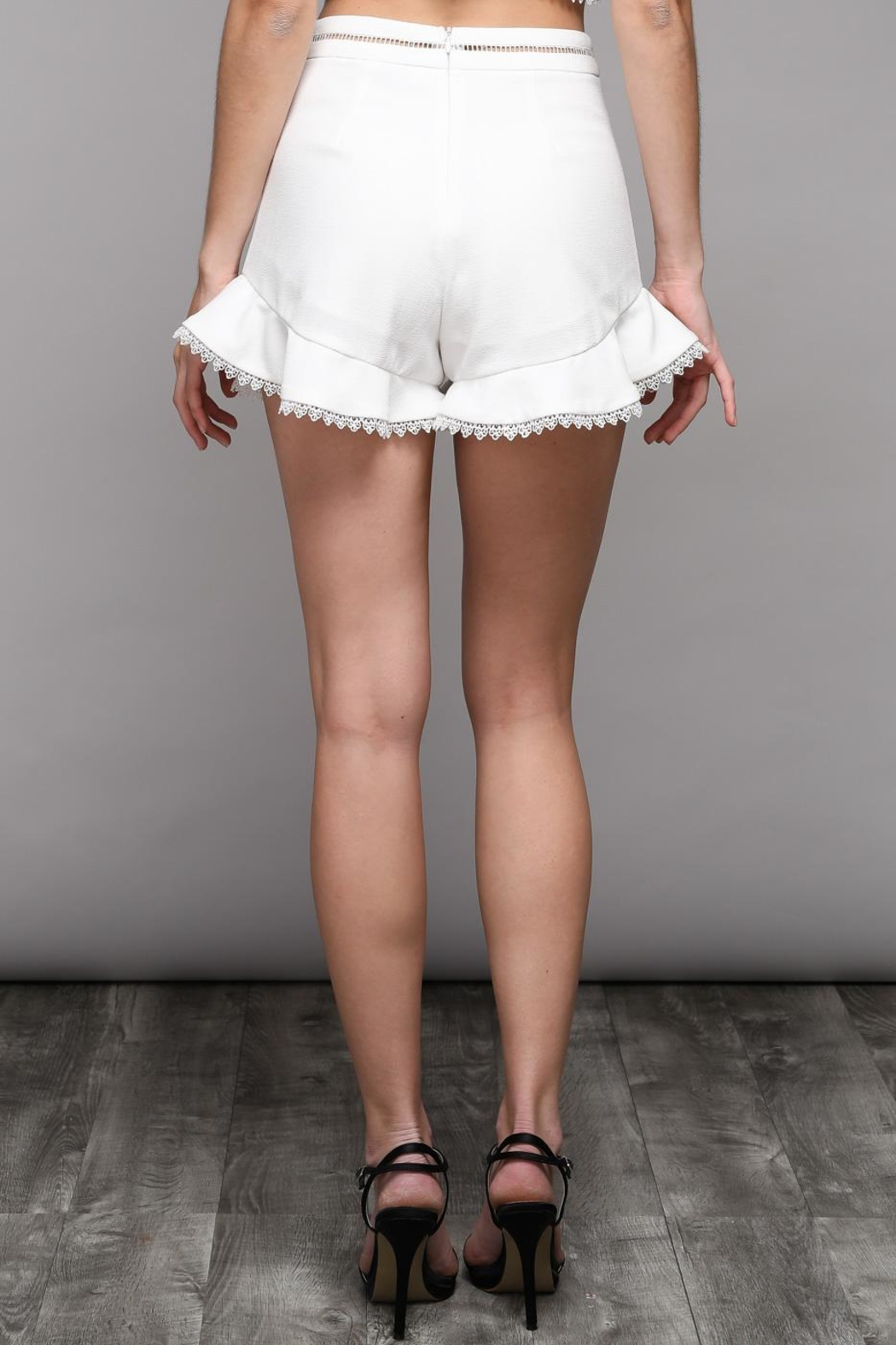 Do & Be Flare Frill Shorts - Front Full Image