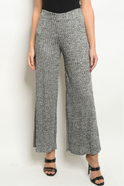 Ginger G Flare Leg Ribbed Pants - Front cropped