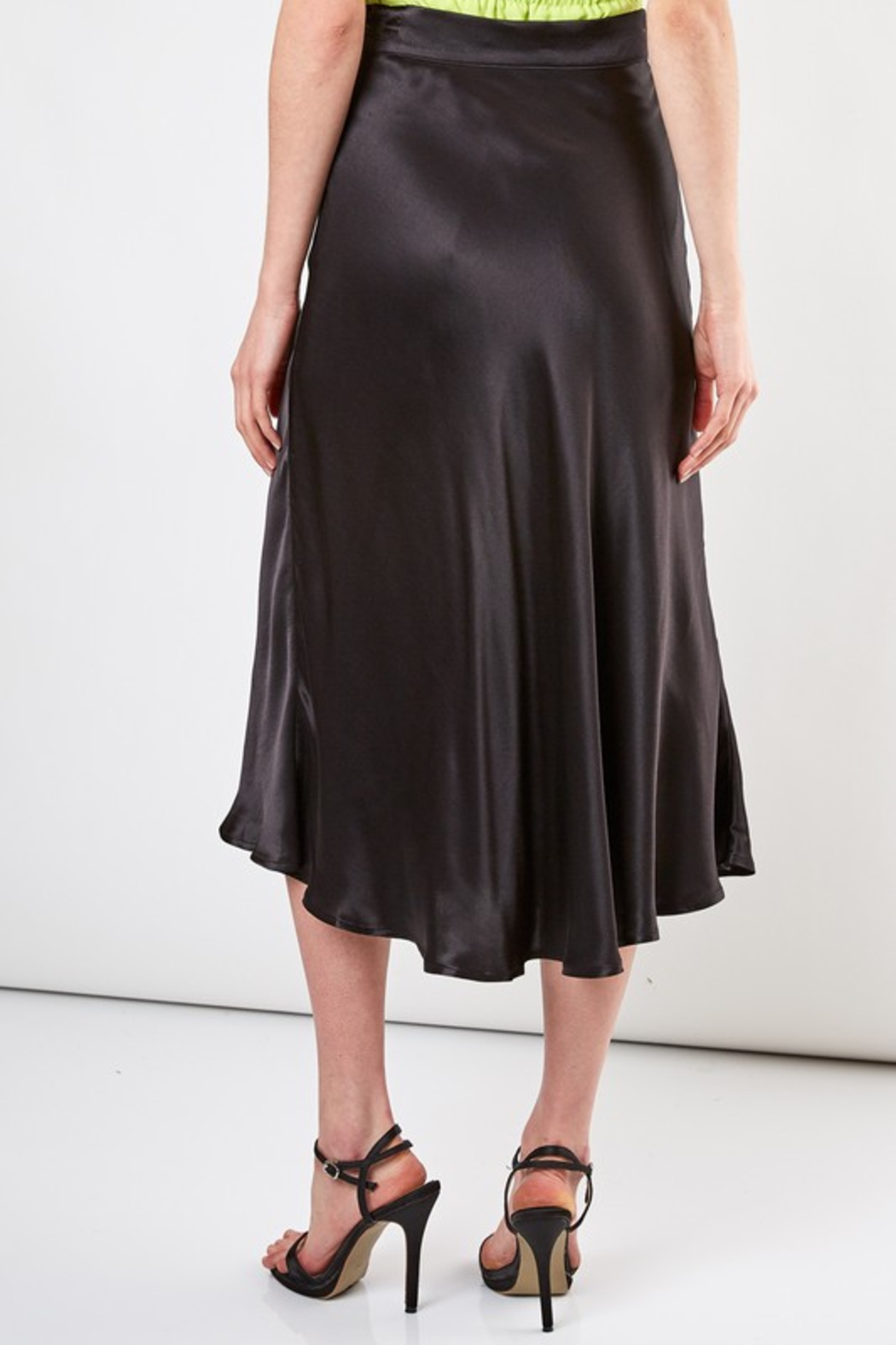 Do + Be  Flare MIdi Skirt - Side Cropped Image