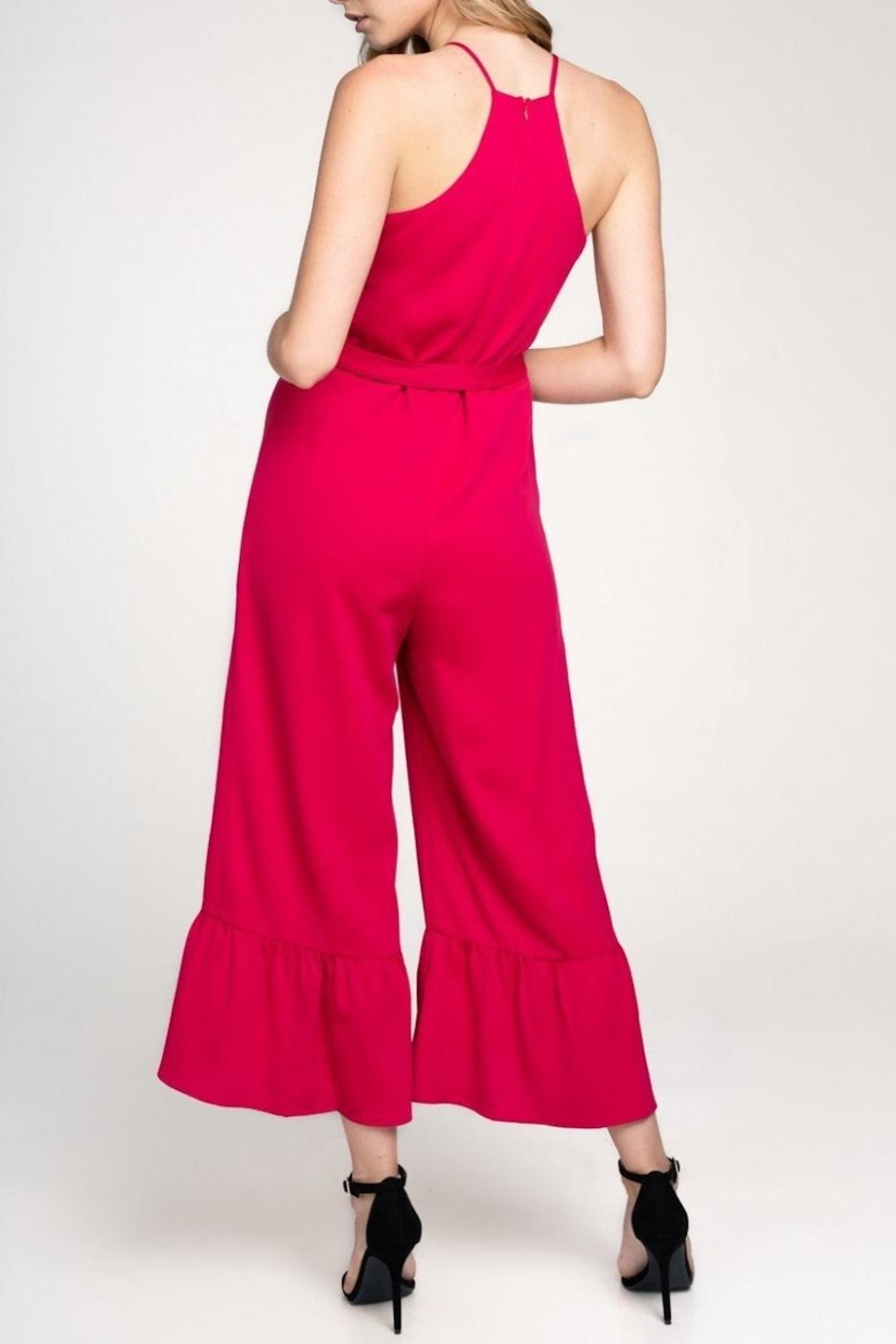 Everly Flare-Out Leg Jumpsuit - Back Cropped Image