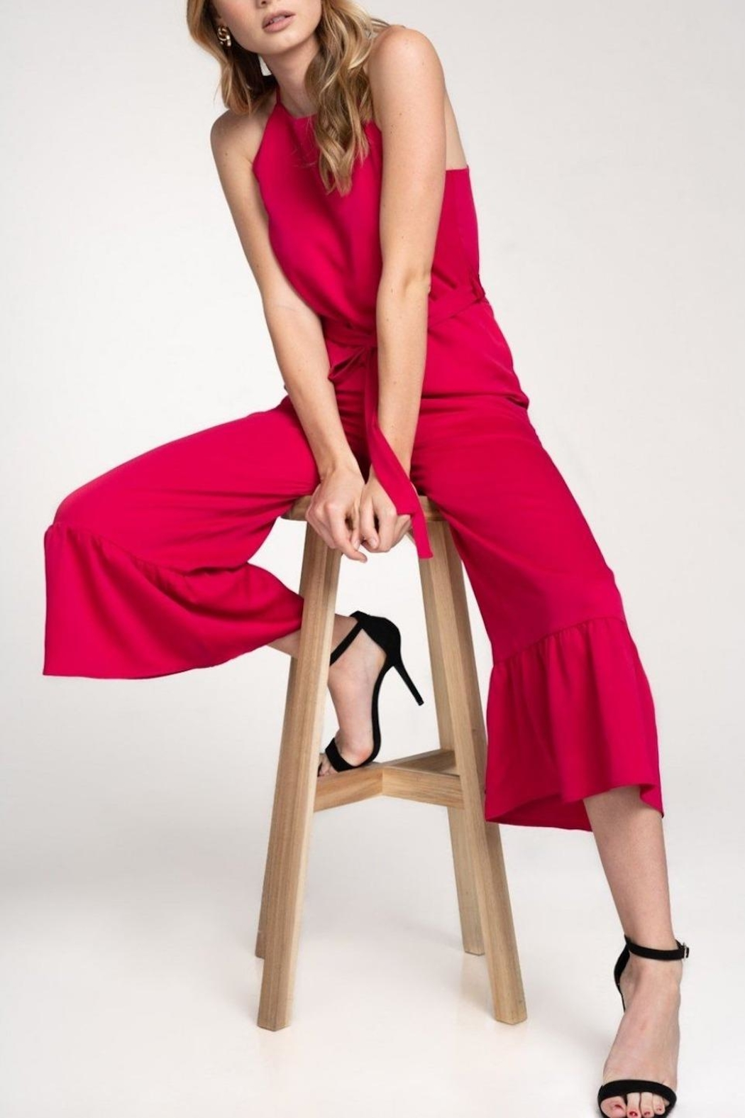 Everly Flare-Out Leg Jumpsuit - Front Full Image