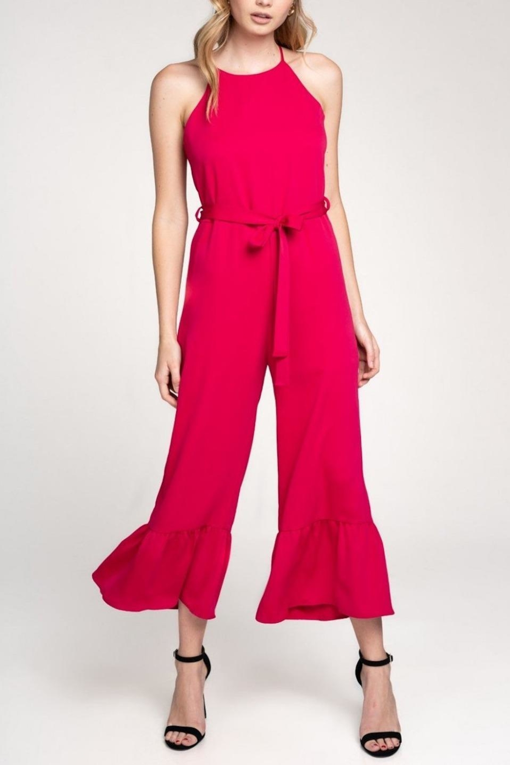 Everly Flare-Out Leg Jumpsuit - Main Image