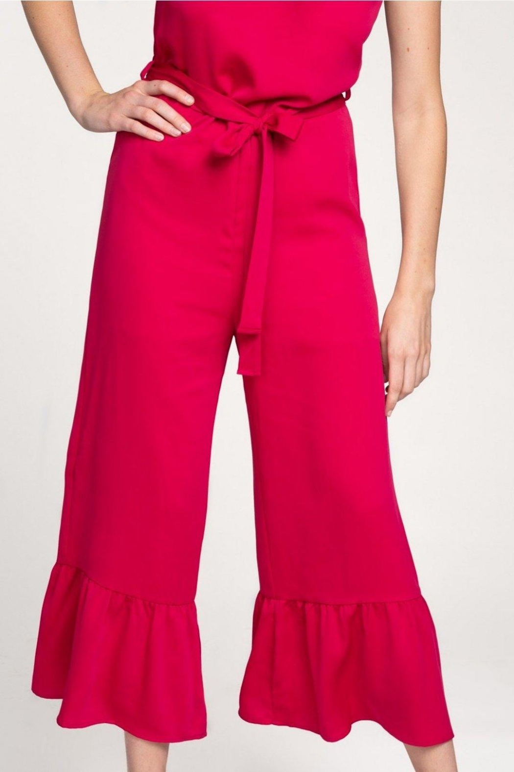 Everly Flare-Out Leg Jumpsuit - Side Cropped Image