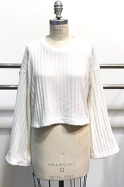 Audrey 3+1 Flare Sleeve Crop-Sweater - Product Mini Image