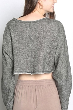 Grade and Gather Flare-Sleeve Cropped Sweater - Alternate List Image