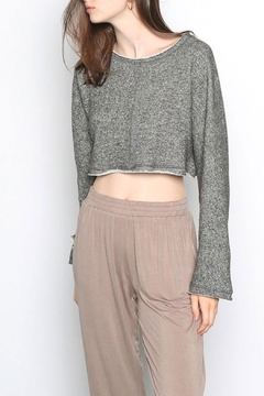 Grade and Gather Flare-Sleeve Cropped Sweater - Product List Image