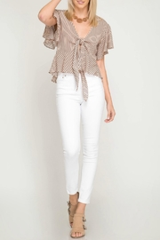 She + Sky Tie Front Top - Other