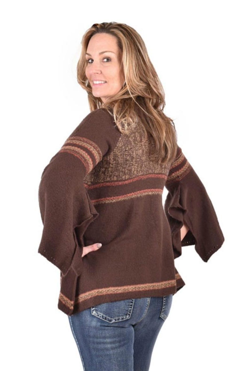 Ethyl Flared Cozy Sweater - Front Full Image