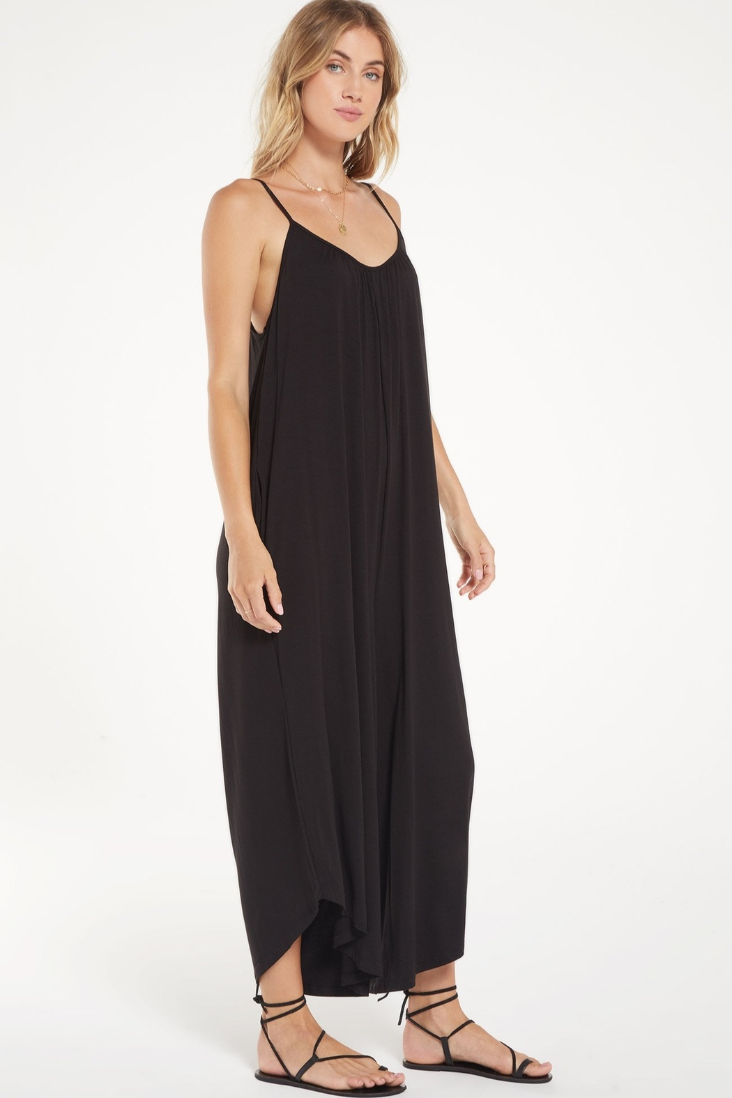 Zsupply Flared Jumpsuit - Front Full Image