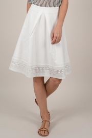 Molly Bracken Flared Lace Skirt - Product Mini Image