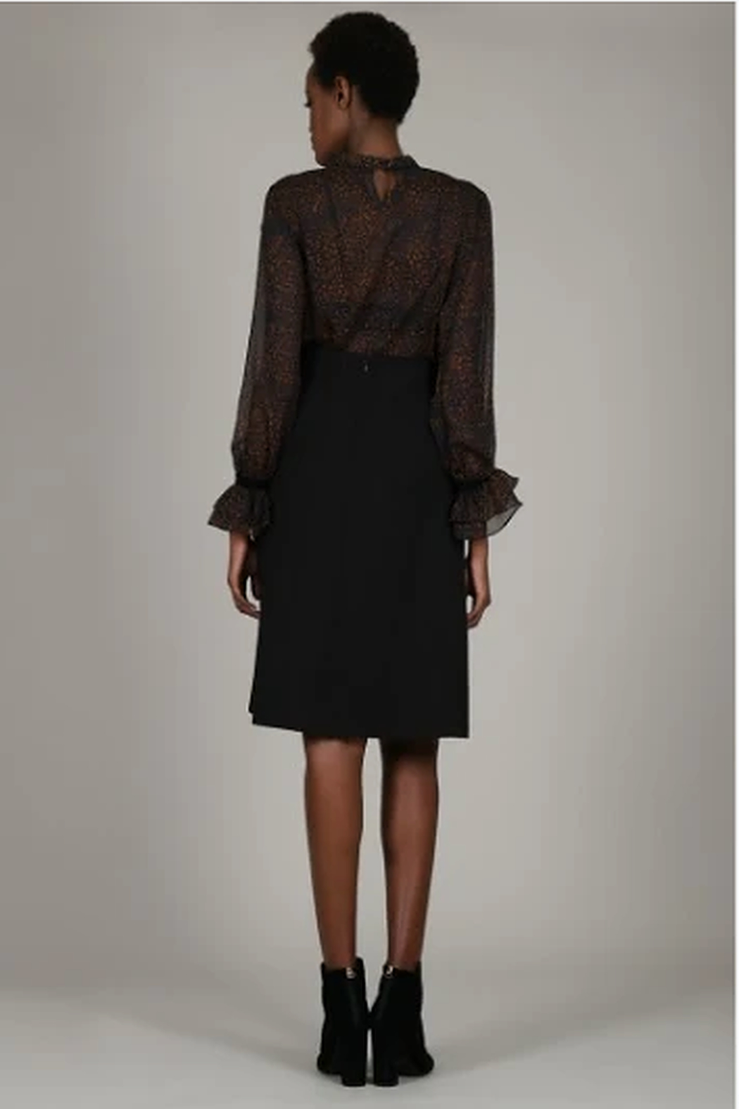 Molly Bracken Flared skirt with pleat - Front Full Image