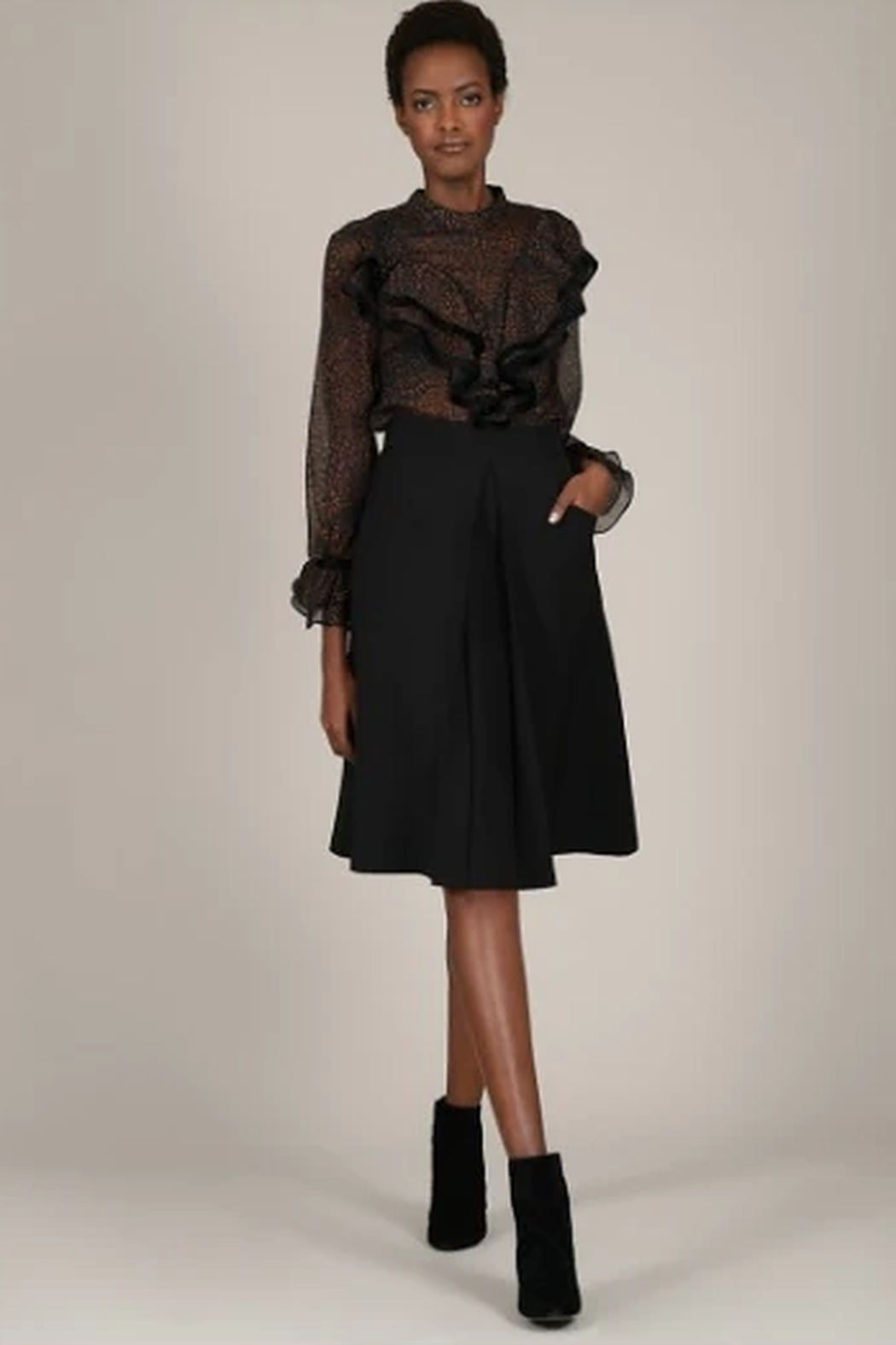 Molly Bracken Flared skirt with pleat - Main Image