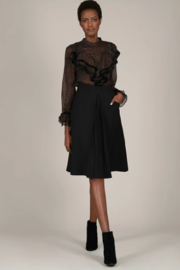 Molly Bracken Flared skirt with pleat - Product Mini Image
