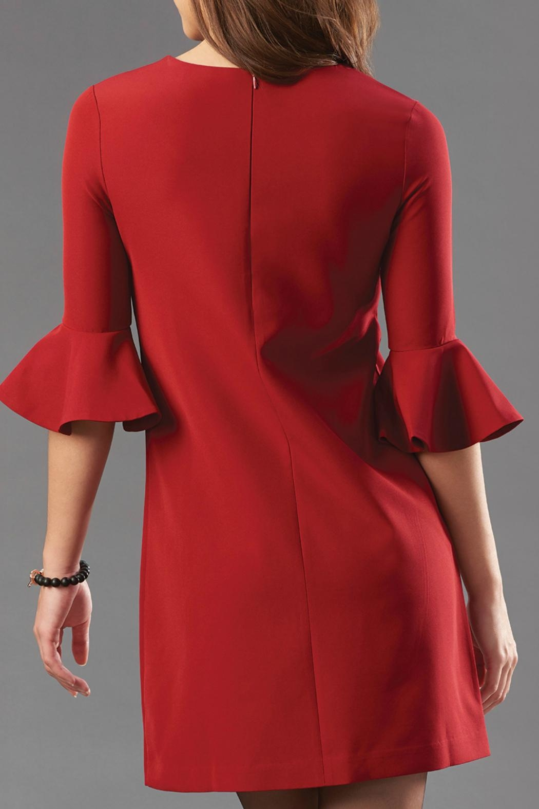 Charlie Paige Flared Sleeve Dress - Front Full Image